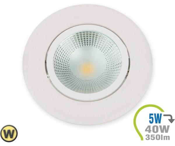 LED Einbauleuchte 5W Rund verstellbar Warmweiß