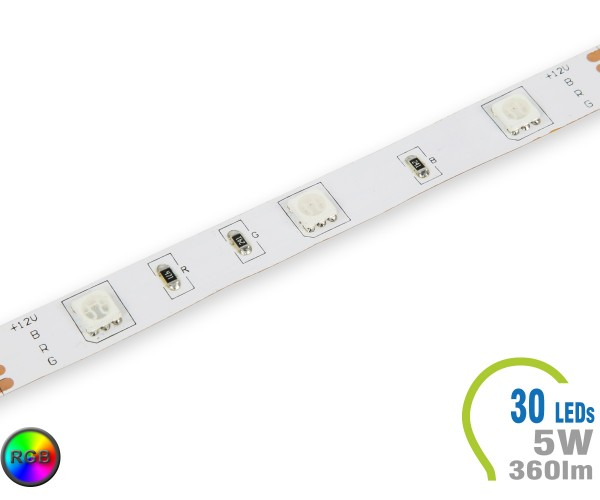 LED Stripe 30 LED/m 360 lm/m RGB