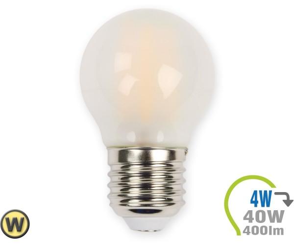 E27 LED Lampe 4W Filament matt G45 Warmweiß