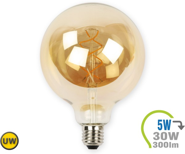 E27 LED Globe 5W Vintage Filament G125 Ultra-Warmweiß