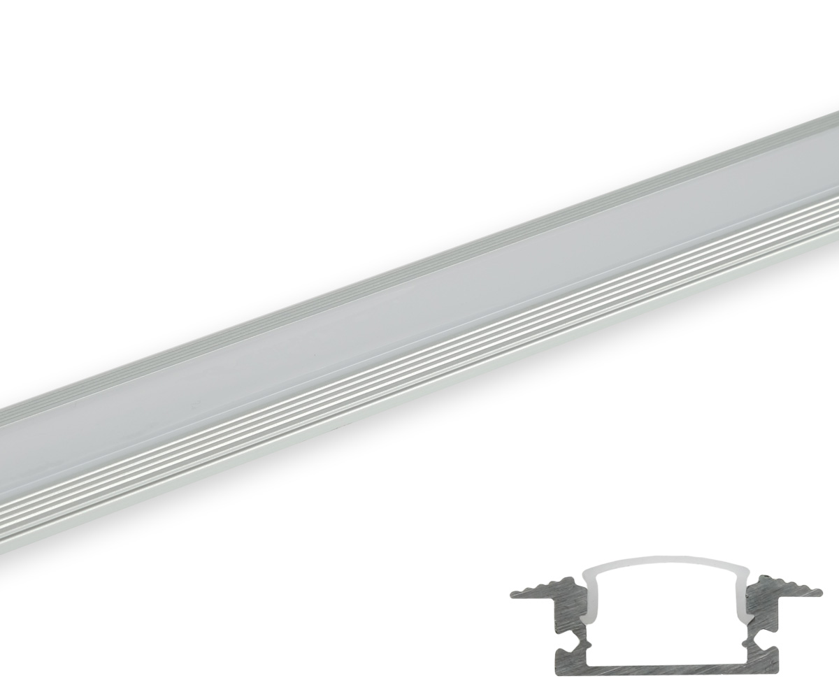 aluminum profil flach gerundete abdeckung matt profile led stripes led lampen leuchten shop. Black Bedroom Furniture Sets. Home Design Ideas