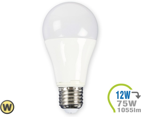 E27 LED Lampe 12W A60 Warmweiß