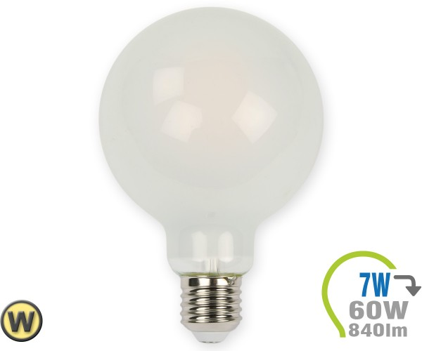 E27 LED Globe 7W Filament matt G95 Warmweiß