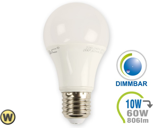 E27 LED Lampe 10W A60 Warmweiß dimmbar