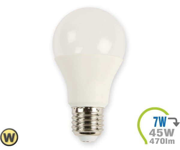 E27 LED Lampe 7W A60 Warmweiß