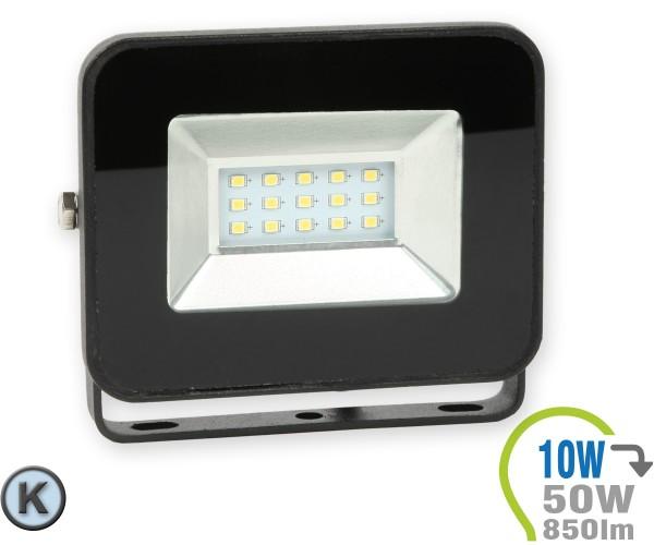 LED Strahler 10W SMD Slim Schwarz Kaltweiß