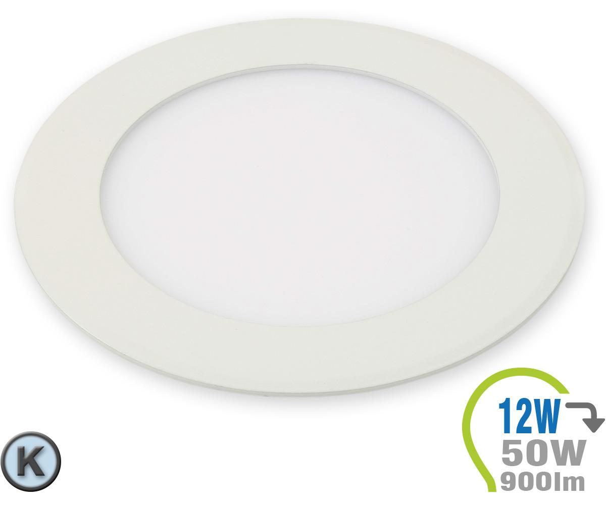 Led paneel einbauleuchte premium serie 12w rund kaltwei for Lampen leuchten shop