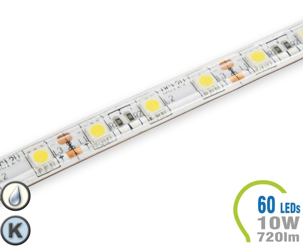 LED Stripe 60 LED/m 720 lm/m IP65 Kaltweiß