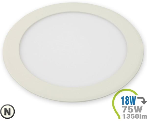 LED Paneel Einbauleuchte Premium Serie 18W Rund Neutralweiß