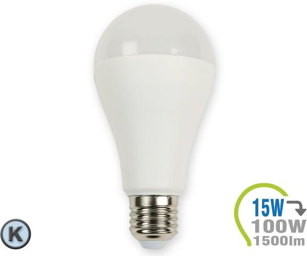 E27 LED Lampe 15W A65 Kaltweiß