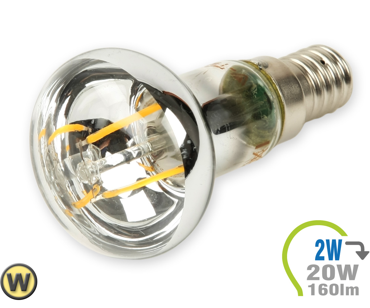 e14 led spot 2w filament r39 warmwei e14 led leuchtmittel led lampen leuchten shop. Black Bedroom Furniture Sets. Home Design Ideas