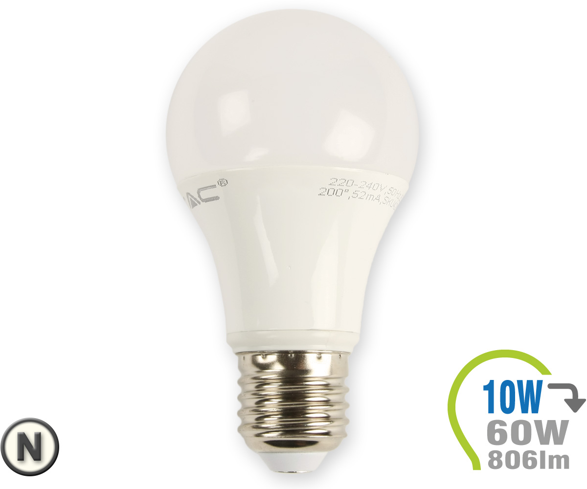 e27 led lampe 10w a60 neutralwei e27 led leuchtmittel. Black Bedroom Furniture Sets. Home Design Ideas