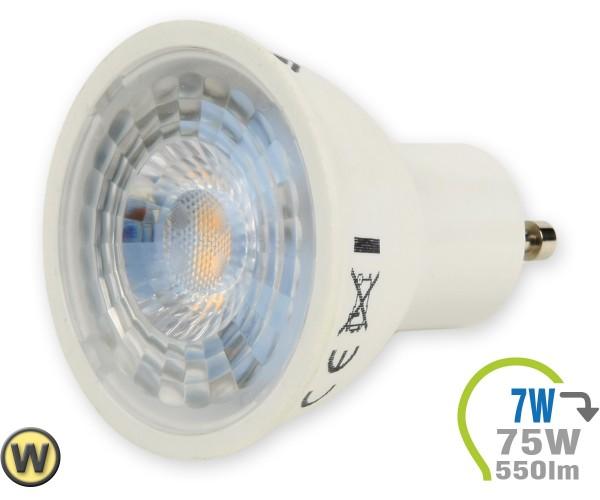 gu10 led lampe 7w spot mit linse warmwei gu10 led leuchtmittel led lampen leuchten shop. Black Bedroom Furniture Sets. Home Design Ideas