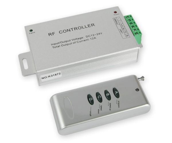LED RGB Controller 3x4A mit Funkfernbedienung 4 Tasten