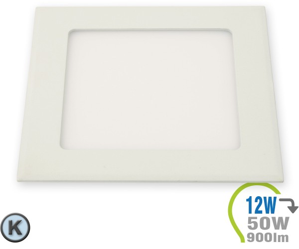 LED Paneel Einbauleuchte Premium Serie 12W Eckig Kaltweiß