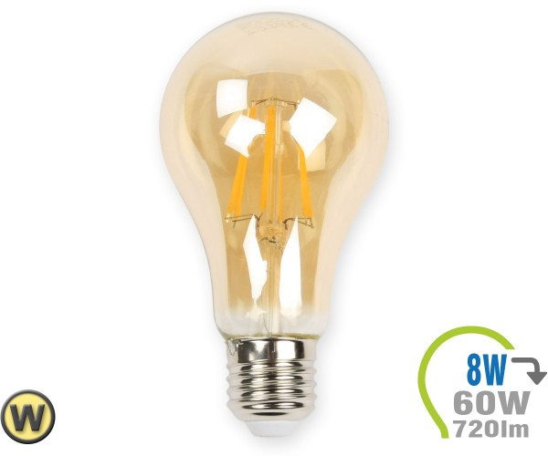 E27 LED Lampe 8W Filament A67 Ultra-Warmweiß