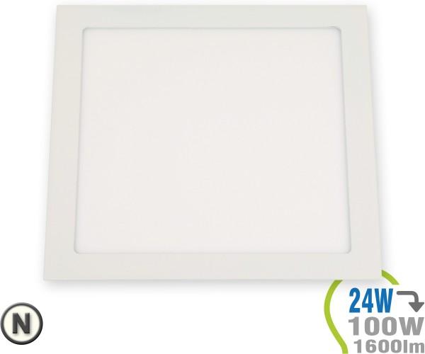 LED Paneel Einbauleuchte Premium Serie 24W Eckig Neutralweiß