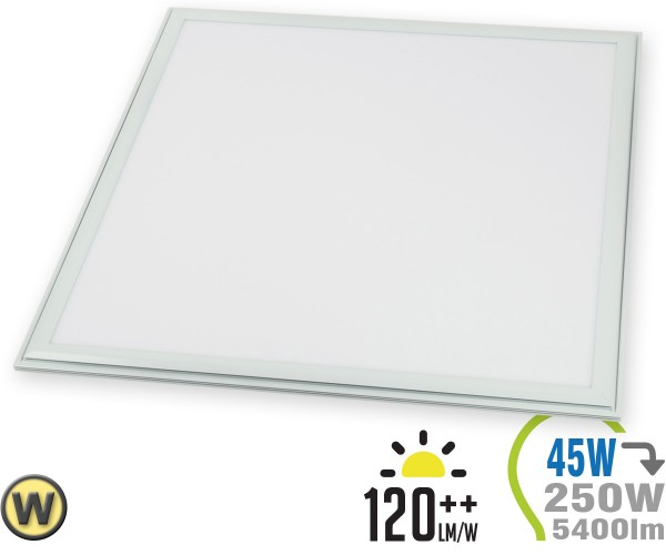 LED Panel 45W 60x60cm 5400lm inkl. Treiber Warmweiß