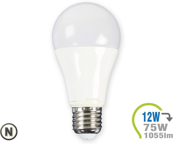E27 LED Lampe 12W A60 Neutralweiß