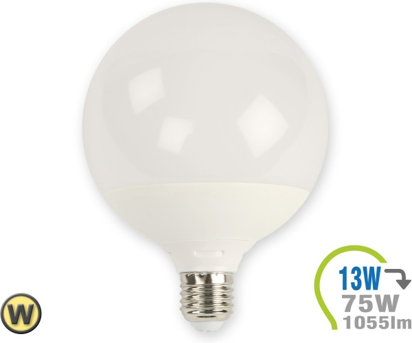 E27 LED Lampe 13W G120 Warmweiß