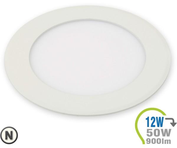 LED Paneel Einbauleuchte Premium Serie 12W Rund Neutralweiß