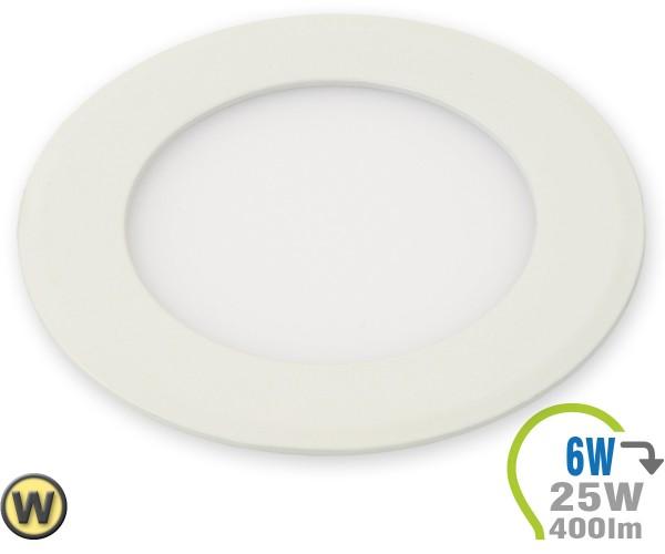 LED Paneel Einbauleuchte Premium Serie 6W Rund Warmweiß