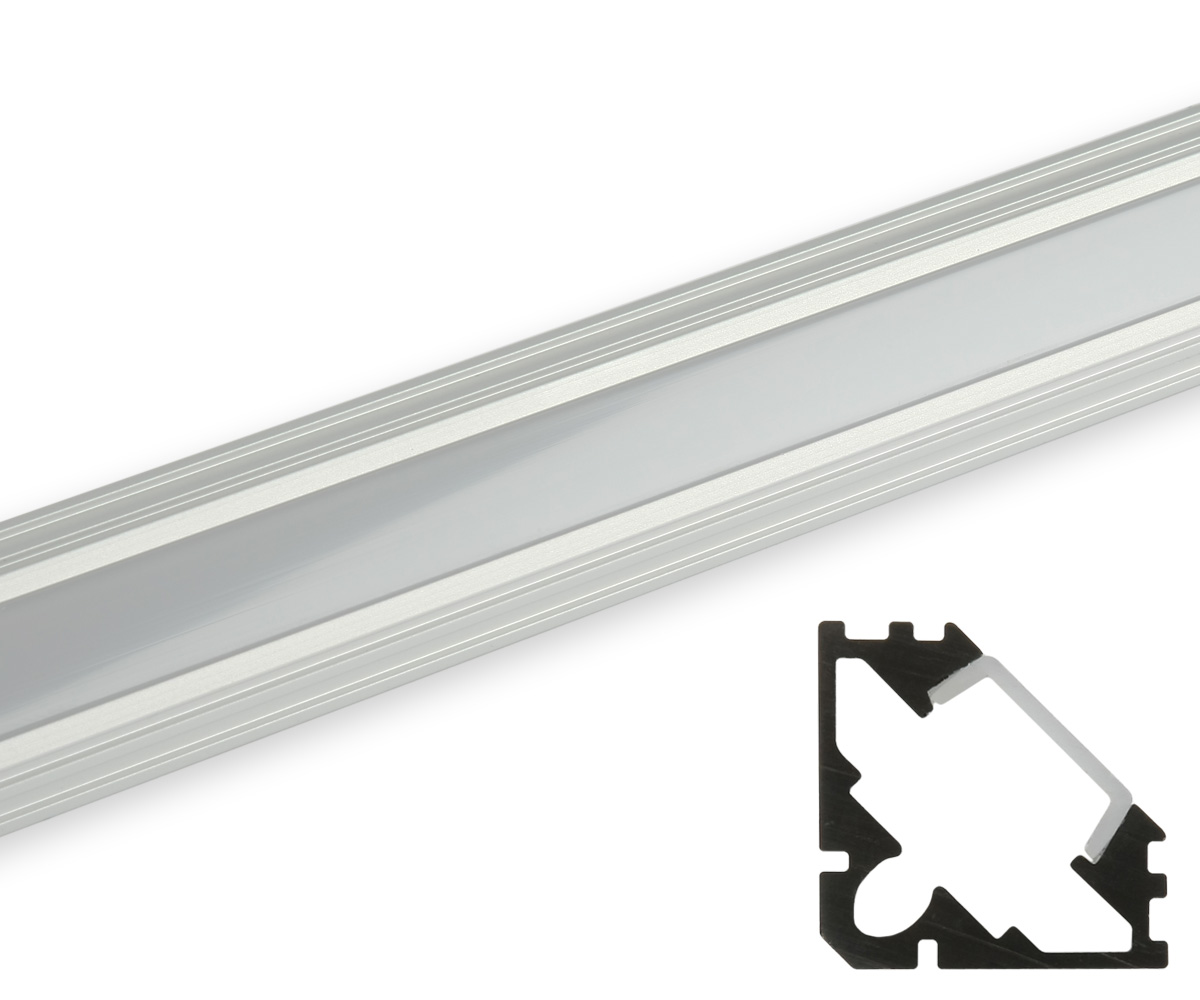 Aluminum eckprofil flache abdeckung matt profile led for Led lampen shop