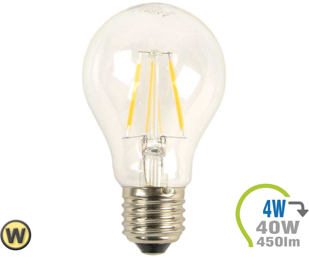 E27 led lampe 4w filament a60 warmwei e27 led for Led lampen shop