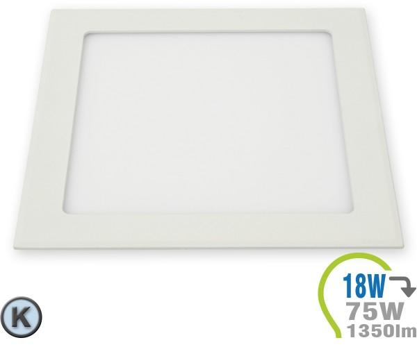 LED Paneel Einbauleuchte Premium Serie 18W Eckig Kaltweiß