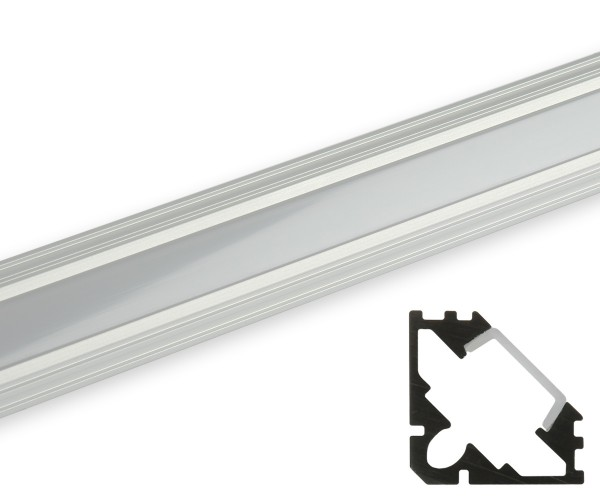 Aluminum Eckprofil flache Abdeckung matt