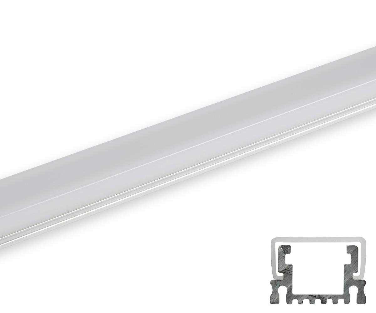 Aluminum profil schmal umlaufende abdeckung matt profile for Led lampen leuchten