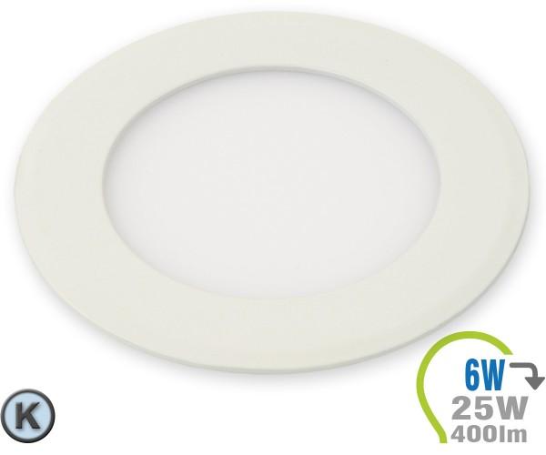 LED Paneel Einbauleuchte Premium Serie 6W Rund Kaltweiß