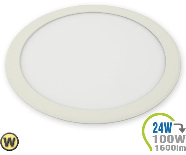 LED Paneel Einbauleuchte Premium Serie 24W Rund Warmweiß