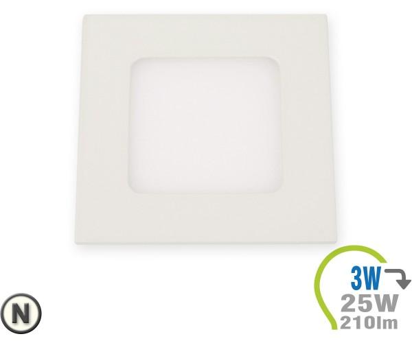 LED Paneel Einbauleuchte Premium Serie 3W Eckig Neutralweiß