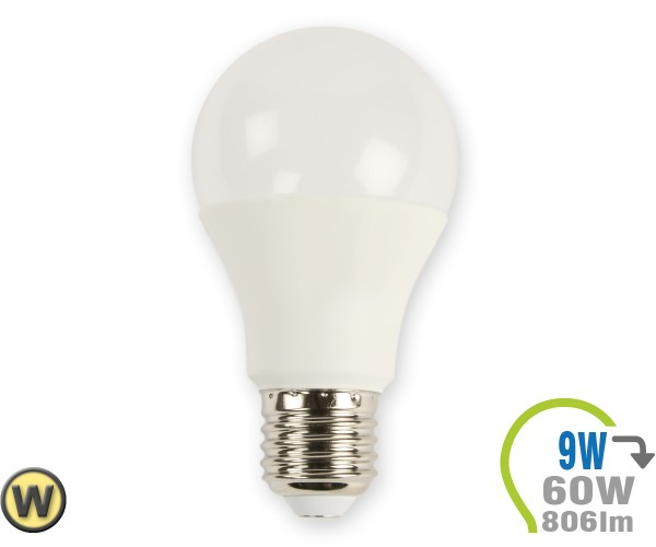 E27 LED Lampe 9W A60 Warmweiß