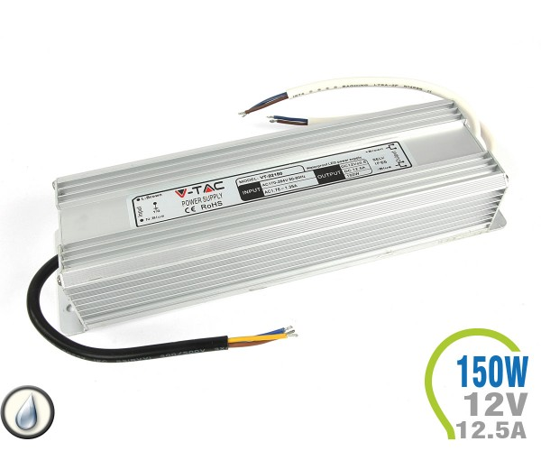 LED Netzteil 150W 12V 12.5A Metall IP65
