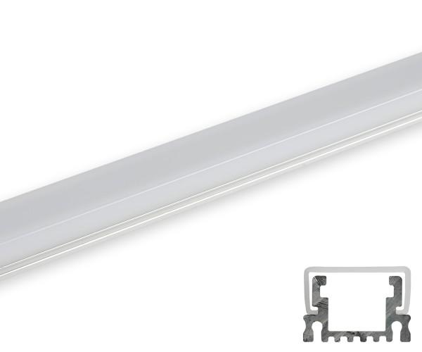 Aluminum Profil schmal umlaufende Abdeckung matt