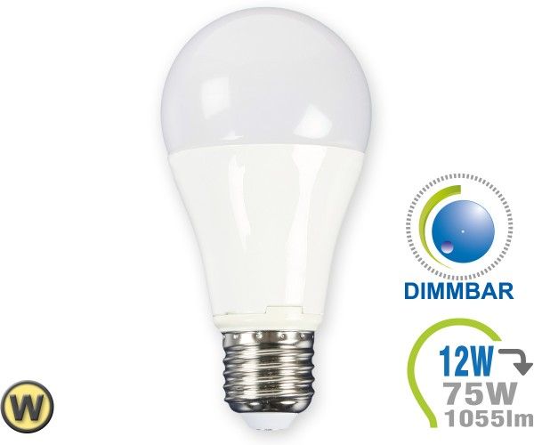 E27 LED Lampe 12W A60 Warmweiß dimmbar