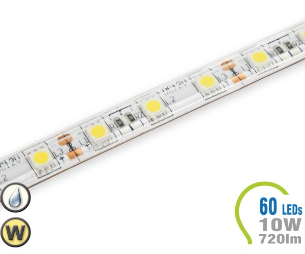 LED Stripe 60 LED/m 720 lm/m IP65 Warmweiß