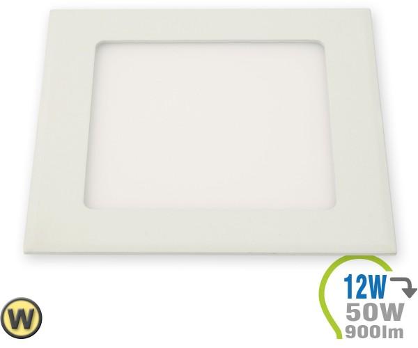 LED Paneel Einbauleuchte Premium Serie 12W Eckig Warmweiß