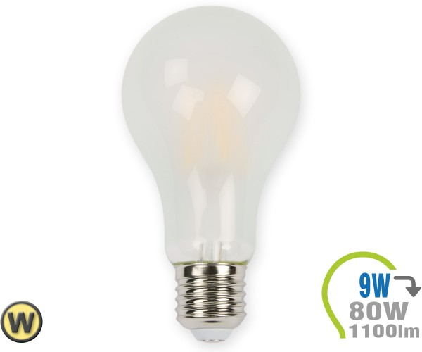 E27 LED Lampe 9W Filament matt A67 Warmweiß