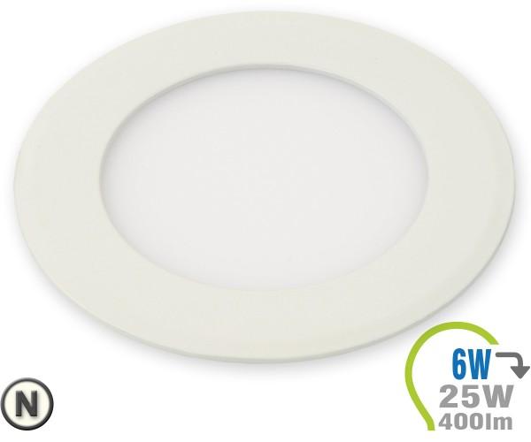 LED Paneel Einbauleuchte Premium Serie 6W Rund Neutralweiß