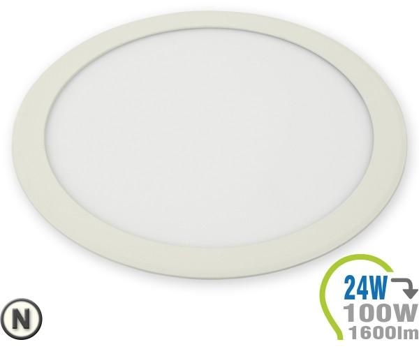 LED Paneel Einbauleuchte Premium Serie 24W Rund Neutralweiß