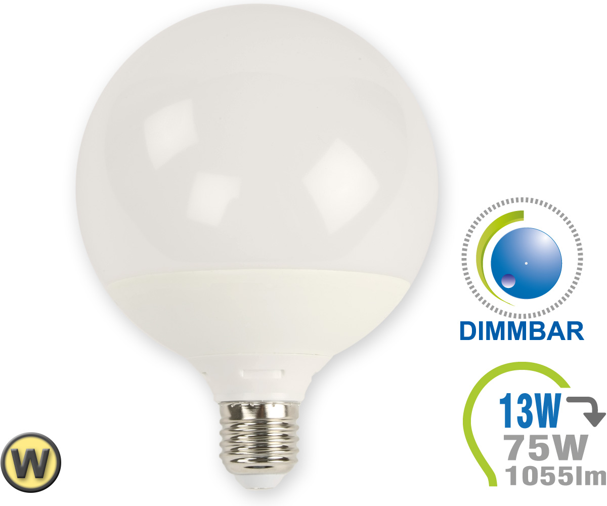 E27 led lampe 13w g120 warmwei dimmbar e27 led for Lampen leuchten shop