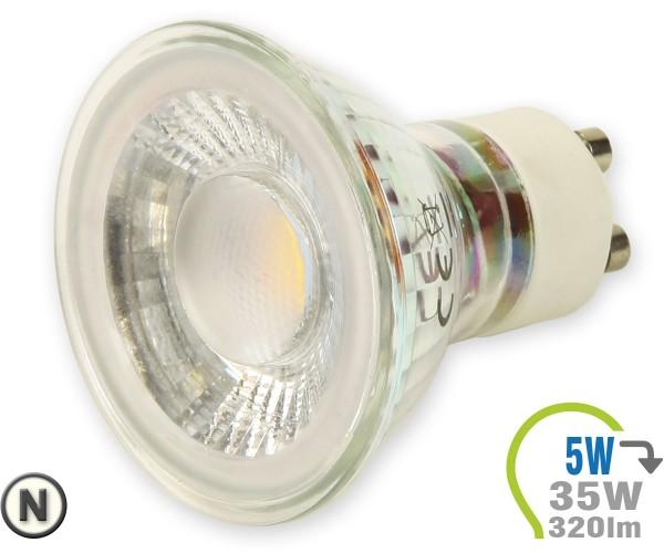 GU10 LED Lampe 5W Spot Glas mit Linse Neutralweiß