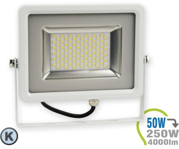 LED Strahler 50W SMD Slim Kaltweiß
