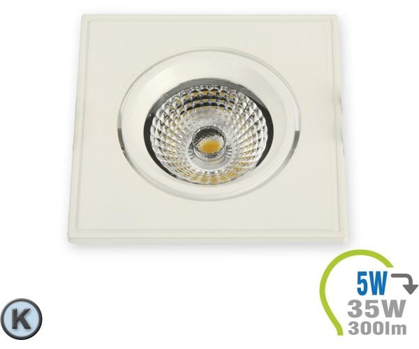 LED Einbauleuchte 5W Eckig verstellbar Weiß Kaltweiß