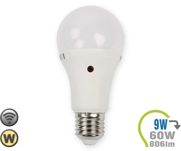 E27 LED Lampe 9W A60 Dämmerungssensor Warmweiß