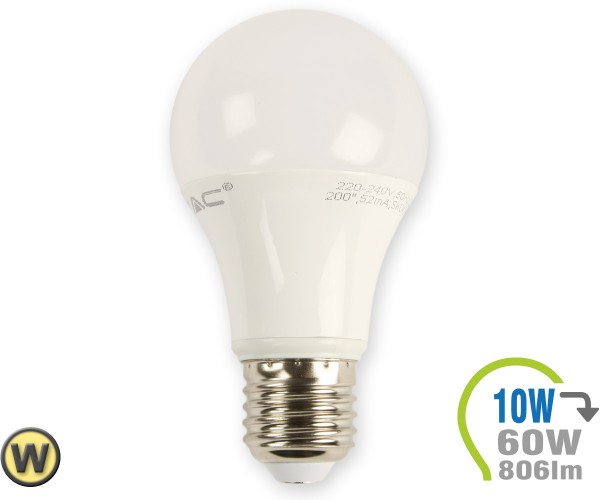 E27 LED Lampe 10W A60 Warmweiß