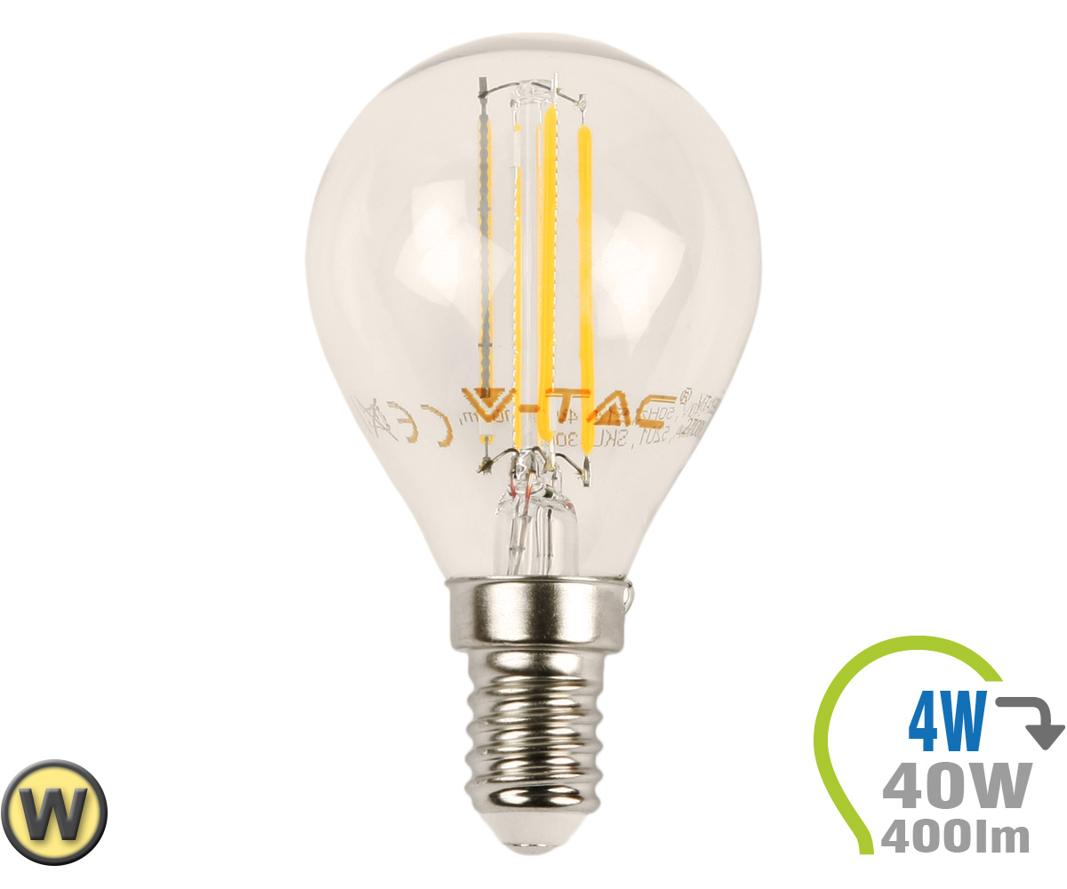 E14 led lampe 4w filament p45 warmwei e14 led for Led lampen shop